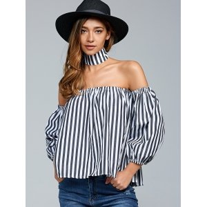 Off The Shoulder Top With Choker -