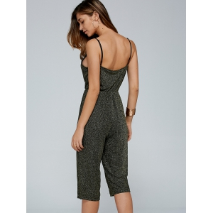 Shiny Cropped Cami Jumpsuit -