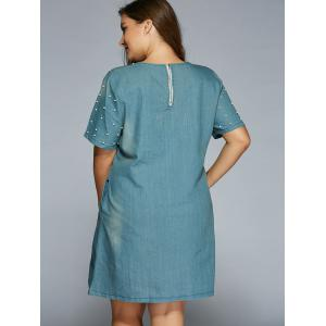 A Line Beading Denim Dress -