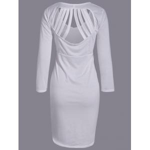 Plunging Neck Cut Out Skinny Dress -