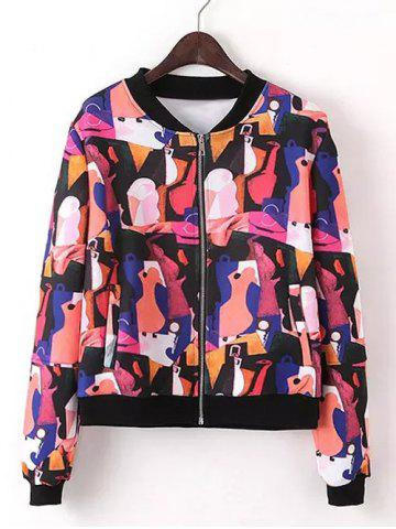 Latest Zipped Printed Jacket