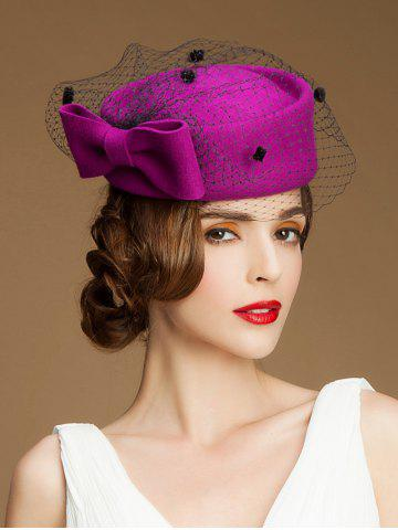 Online Sororal Party Big Bow Veil Pillbox Hat