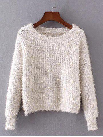 New Beaded Cap Sleeves Sweater