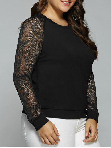 Outfits Plus Size Lace Sleeve Sweatshirt