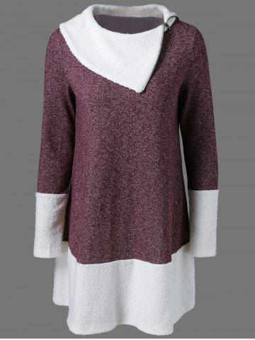 Chic Side Collar Knitted Pullover