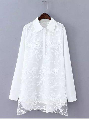 Shop Plus Size Embroidered Long Shirt