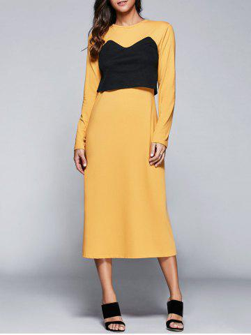 Fancy Casual Round Neck Long Sleeve Popover Dress