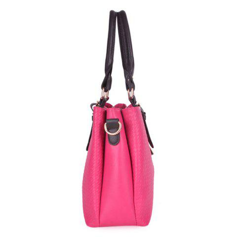 Sale Braided Buckle Strap ToteBag - ROSE RED  Mobile