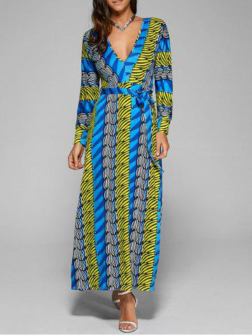 Latest Exotic Long Sleeve Printed Maxi Dress