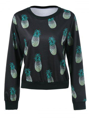 Chic Pineapple Print Sweatshirt