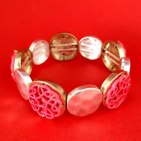 Affordable Retro Round Hollow Out Bracelet