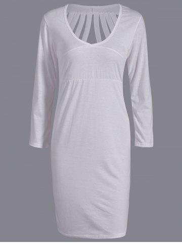 Shops Plunging Neck Cut Out Skinny Dress
