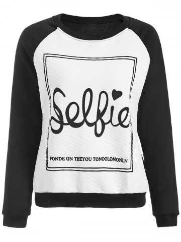 Cheap Love You Letter Raglan Sleeve Sweatshirt