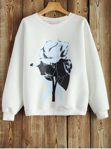 Fashion Crew Neck Sweatshirt With Chinese Painting