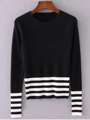 Latest Striped Pullover Knit Sweater