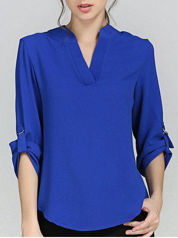 Cheap Chiffon V Neck Blouse