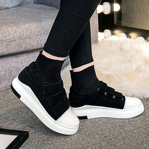 Best Hook and Loop Suede Knitted Ankle Boots