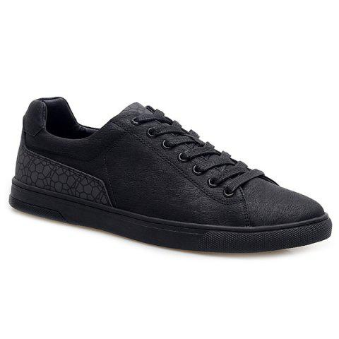 Hot Lace-Up Color Block Casual Shoes BLACK 44