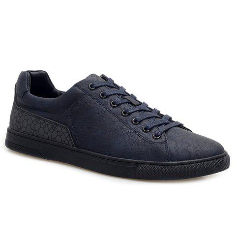 Outfits Lace-Up Color Block Casual Shoes DEEP BLUE 44