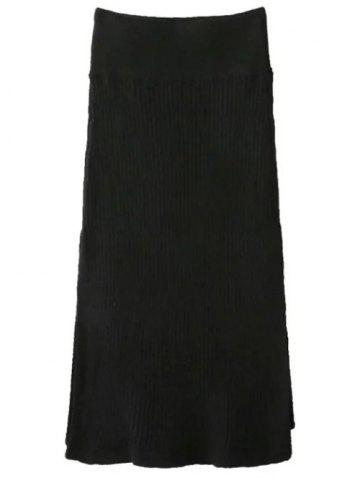 Online Side Slit Knit Skirt