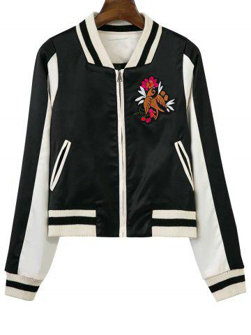 Outfits Raglan Sleeve Zip-Up Baseball Jacket