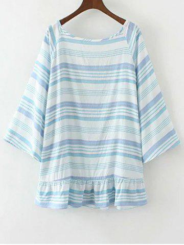 Outfits Flared Sleeve Striped Tunic Top