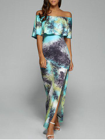 Shop Off The Shoulder Maxi Bodycon Dress with Slit