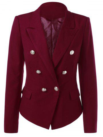 Fancy Flap Pockets Buttton Embellished Blazer