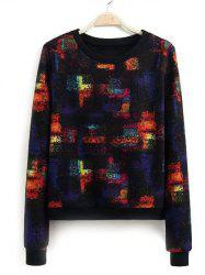 Round Neck Splash-Ink Sweatshirt -