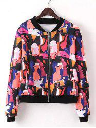 Zipped Printed Jacket -