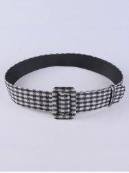 Coat Wear Plaid Cloth Wide Belt