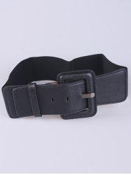 Coat Wear PU Large Pin Buckle Stretch Belt