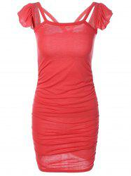 Ruched Ruffles Packet Buttock Dress -