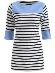Casual Striped Color Block Dress