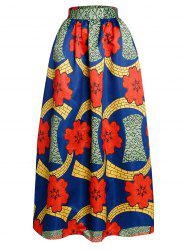 Pocket Design High-Waisted Ornate Printed Skirt