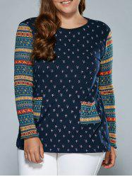 Tribal Sleeve Tree Top With Pockets -
