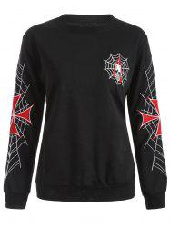 Punk Embroidered Loose Sweatshirt
