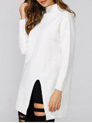 Loose Slit Long Knitwear