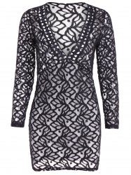 Openwork Lace Bodycon Dress