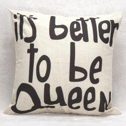 Soft Decorative Letters Sofa Bed Pillow Case - WHITE AND BLACK