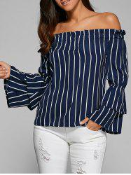 Tiered Ruffle Sleeve Off Shoulder Top -