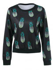 Pineapple Print Sweatshirt -