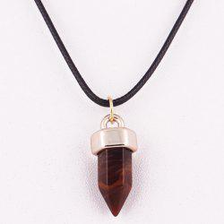 Natural Hexagon Stone Pendant Necklace