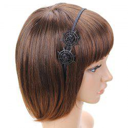 Double Spider Web Gothic Hairband - BLACK