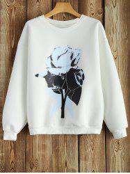Crew Neck Sweatshirt With Chinese Painting -