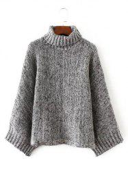 Turtle Neck Pullover Knit Sweater -