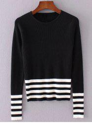 Striped Pullover Knit Sweater -