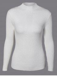 Long Sleeve Pullover Slim Sweater -