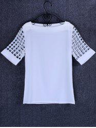 Openwork Candy Color T Shirt -