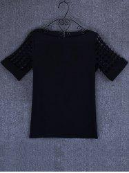 Openwork Candy Color T Shirt